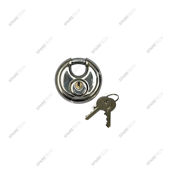 Stainless steel safety padlock D.70mm